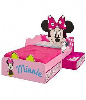 BED MINNIE MOUSE - 509MIZ - Minnie Bett mit Schubladen ...